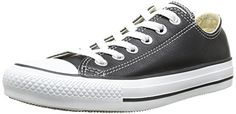 Converse Unisex Chuck Taylor Ox Black My favorite shoes but in LEATHER so they never look dirty!