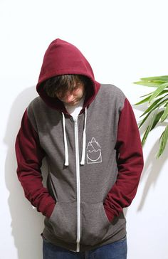 Your place to buy and sell all things handmade Contrast, Burgundy, Unisex, Hoodies, Trending Outfits, Sweaters, Etsy, Design, Fashion