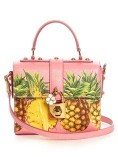 Dolce & Gabbana Dolce Box pineapple-print leather bag