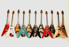Flying V for dad and our mutual Grace Potter love. Gibson Epiphone, Gibson Guitars, Guitar Pics, Cool Guitar, Baritone Guitar, Gibson Explorer, Gibson Flying V, Grace Potter, Jackson Guitars