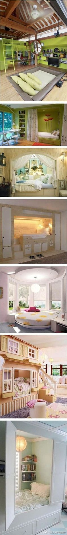 these are some great ideas for unusual bedrooms!  i love it