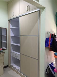 Simple Sliding Door Wardrobe By Luxury Interior At Surabaya Indonesia