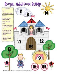 Your class will love to practice adding and subtracting with these two prince and princess themed bump games! For the addition bump game, students ...
