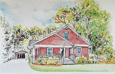 Original Custom Watercolor House Painting of Your Home, Custom Art, Architectural Rendering, Custom Illustration from your photo, house portrait, Wedding Gift, anniversary gift, Birthday Gift, Housewarming Gift, Christmas Gift, Holiday Gift.   Hello Dear Friends,  I am Tina, an Architect, Artist, National Architectural Rendering winner.  A house is a memory of part of life, part of family and part of your history.  When you have your house painted/drawn on a piece of canvas or paper, it ...