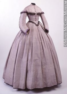 Dress ~ 1862-1864 ~ The McCord Museum ~ The McCord Museum conserves and presents close to 1,500,000 objects, images and manuscripts that are irreplaceable reflections of the social history and material culture of Montreal, Quebec and Canada.
