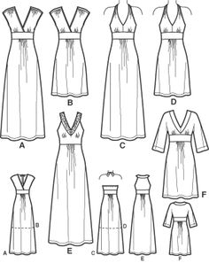 See img A for DIY maxi dress idea. Add a tied empire waist and pockets? - one of my all time favourite simplicity patterns!