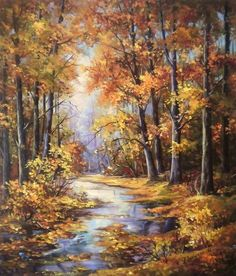 Pintora Anca Bulgaru, Iasi Rumania Could be rural Canadajpg 768 × 876 pixels – Pervin Pervin – Join the world of pinART~ Beautiful Autumn In Copper And Gold~ Oil Painting~ Artist Unknown.Photos tagged with Paisajes Naturales Watercolor Landscape, Landscape Art, Landscape Paintings, Watercolor Art, Landscape Photography, Autumn Painting, Autumn Art, Pictures To Paint, Nature Pictures
