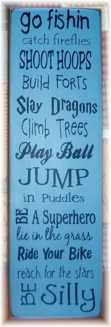 Fun for  Boys typography primitive wood sign by pattisprimitives, $24.00