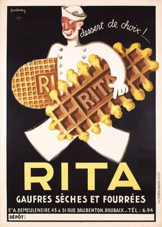 1930s French RITA Cookie Poster LEON DUPIN