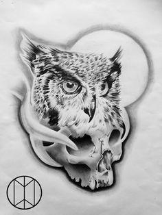 Unalome, Skull Tattoos, Lion Sculpture, Statue, Bird, Drawings, Animals, Owls, Design