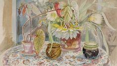 Chappel Galleries - Richard Bawden Summer Flowers, Still Life, Galleries, Watercolour, British, Gardens, Illustration, Floral, Painting