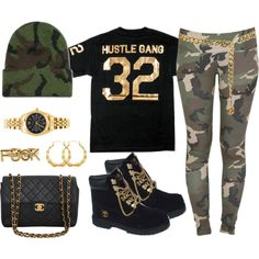 Hustle Gang My N*gga !, created by maybabieeex3 on Polyvore