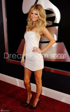Fascination Grammy Awards Marisa Miller Red Carpet Evening Sheath/Column Strapeless Short/Mini White Dress Celebrity Dresses