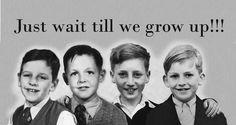 Beatles kids ringo starr, paul mccartney , john lennon, george harisson