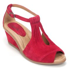 Earthies Earth Caper Womens Suede Wedge Heel Shoe | Simons Shoes