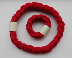 Necklace and bracelet in cotton-ceramics- www.scicche.it
