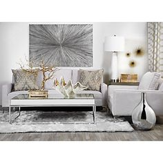 Living room grey white silver ideas for 2019 Silver Living Room, Living Room Grey, Formal Living Rooms, Interior Design Living Room, Living Room Designs, Living Room Decor, Living Room Inspiration, Home Decor Inspiration, Living Room End Tables