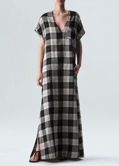 Osklen - Vestido Longo Vichy