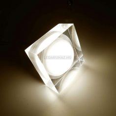 Ledium Crystallo süllyesztett LED lámpa, négyzet, 3W, 12V, 414 lm, 3500K melegfehér