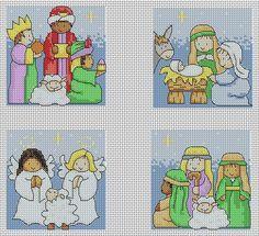 cross stitch nativity free patterns - Pesquisa Google
