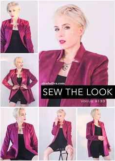 Using Vogue Pattern V9133 for this easy Summer Blazer look!  #magenta #blazerjacket How To Wear Blazers, Summer Blazer, Going Out Of Business, Cut Off Jeans, Lightweight Jacket, Clarks, Blazer Jacket, Magenta, Vogue