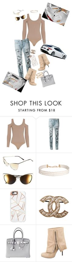 """""""First Ride in a Porsche Panamera"""" by kmariefashion ❤ liked on Polyvore featuring Exclusive for Intermix, rag & bone, Tom Ford, Humble Chic, Casetify, Chanel, Hermès, Giuseppe Zanotti, Cartier and Porsche"""