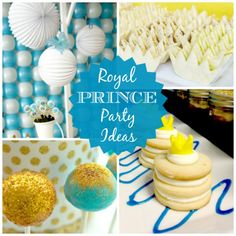 Forget princess, how about throwing a prince birthday party for your little boy? Here are some great ideas! | CatchMyParty.com.