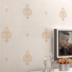 Encontre mais Papéis de parede Informações sobre Europeu bordado diamante papel de parede para paredes de papel de parede 3d estereoscópico 3 d parede papers home decor papier peint tapety, de alta qualidade Papel de parede para paredes, papel de parede 3d estereoscópico China Fornecedores, Barato papel de parede 3D de LONG fashion Home Decoration em Aliexpress.com
