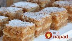 Výborný a veľmi šťavnatý jablkový koláčik, na ktorom si pochutná celá rodina! Czech Recipes, Little Cakes, Strudel, Thing 1, Biscotti, Apple Pie, Sweet Recipes, Ham, French Toast