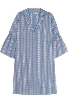 Splendid - Dolman Cotton-jacquard Mini Dress - Blue - x small