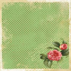Free printable ephemora.  DIY crafting background for scrapbooking, mixed media, tags, gift, labels, party decorations, holiday crafts, collages, photos, graphics & notes.  Vintage inspired flower (rose) & polka dots.