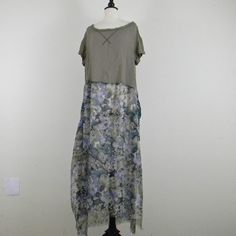 This piece is called Summer is Here, a sheer long dress that can be tied at each side of the hem, when you are wading in the ocean. Read more, see more at http://do-overclothes.com!
