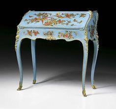 louis xv lacquer lady s desk attributed to bernard ii van risen burgh paris ca 1760 bernard ii van risen burgh was an
