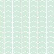chevron // mint - Northern Lights by littlearrowdesign