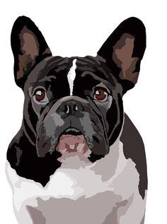 Waakbord Franse Buldog van watch4dogz op Etsy
