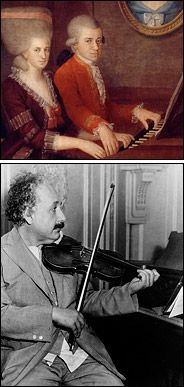 HARMONY OF THE UNIVERSE Einstein, who learned to play the violin as a child and often turned to music in difficult times, was especially fond of the sonatas by Mozart.