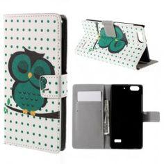 Huawei Honor 4C vihreä pöllö puhelinlompakko. #pöllö #owl #phonecase #vihreä