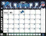 "Turner Detroit Lions 2016 Desk Calendar January-December 2016 22 x 17"" (8061536)"