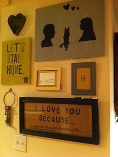 """i love you because..."" diy dry erase board"