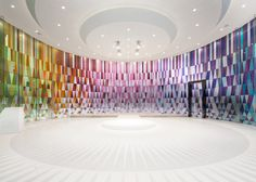 Rainbow Chapel by Coordination Asia is a multi-coloured wedding venue in Shanghai.