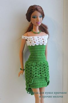 Crotchet dress for barbie: