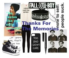 """Thanks For The Memories: Fall Out Boy"" by softballnumber4 ❤ liked on Polyvore featuring Marc by Marc Jacobs, H&M, 7 For All Mankind, Converse and Marc Jacobs"