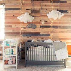 chambre bébé lambris