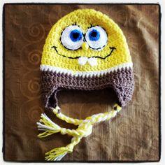 Sponge bob crochet beanie
