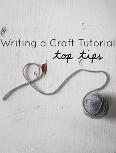 tutorial writing tips