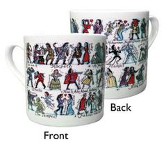 """Shakespeare"" Shakespeare's Plays Mug (15 oz) at BBC Shop"