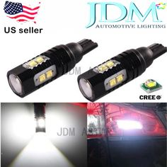 JDM ASTAR 50W CREE Extreme Bright High Power 912 921 T10/T15 White Auto LED Bulb #JDMASTARLEDCREEbackupreverselight
