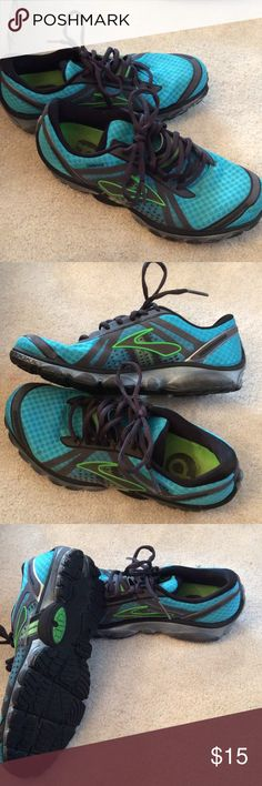 Brooks Pure Cadence running shoes ScubaBlu/Anthracite/ bright green/black Women's running shoe. Good condition Brooks Shoes Athletic Shoes