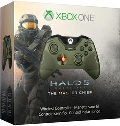 Amazon.com: Xbox One Limited Edition Halo 5: Guardians Master Chief Wireless Controller: Video Games----> I . Need . This!!!