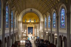 Wedding ceremony venue: St Joseph Chapel, College of the Holy Cross, Worcester, Massachusetts